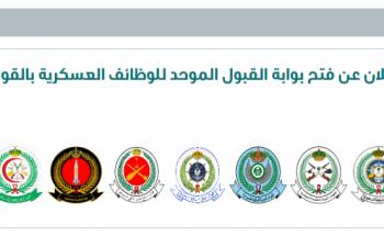 قريباً سيتم الإعلان عن فتح بوابة القبول الموحد للوظائف العسكرية بالقوات المسلحة