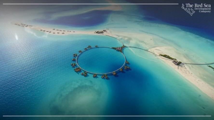 """عاجل .. شاهد .. إنشاء فلل و فنادق عائمة حول جزر في """"البحر الأحمر"""""""