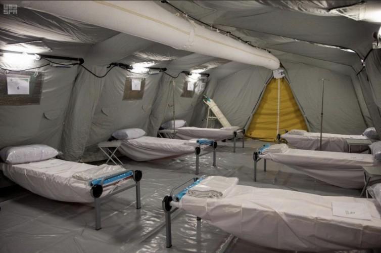 """""""صحة مكة"""" والقوات المسلحة تضعان اللمسات الأخيرة لمستشفى كورونا الميداني المتنقل بحي كدي"""
